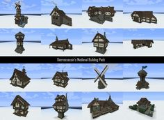 Who doesn't love this medieval buildings set?