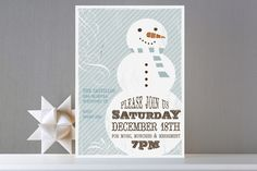 Retro Snowman Holiday Party Invitations by Rachael... at Minted.com