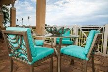 David Francis Manhattan Patio Side Chair Finish And Fabric Choices Patio  Furniture