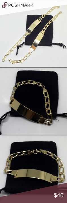 Two Gold Plated Bracelets Get both for the price listed! High quality ! Length: 8inch Jewelry Bracelets