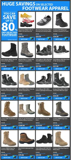 HUGE SAVINGS ON SELECTED FOOTWEAR APPAREL! #Botach #Tactical #BotachTactical…