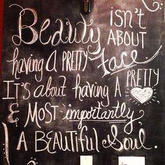 Beauty chalk wall art