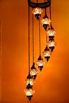 9 ball 110230v Turkish Moroccan Hanging by anatolangourdlamps, $169.00