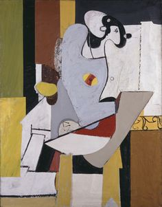 Blue Figure in a Chair,  Artist: Arshile Gorky,  Completion Date: c.1931, Technique: oil,  Material: canvas,  Dimensions: 18 x 13 inches