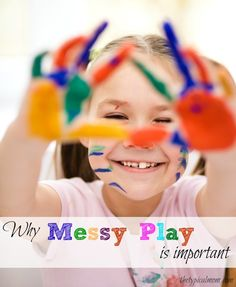 The importance of messy play and fingerpainting for kids. How to make edible non toxic fingerpaints here too!