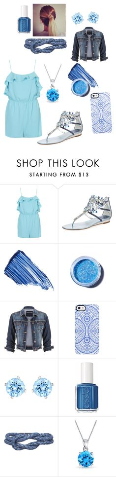 """A touch of intelligence"" by unashamedfashionista ❤ liked on Polyvore featuring Topshop, René Caovilla, By Terry, Lime Crime, maurices, Uncommon, Swarovski, Essie, Carrie K. and Bling Jewelry"