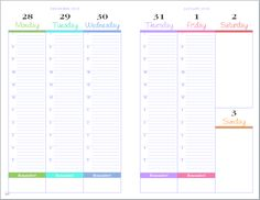FREE PLANNER PAGES : Junior_PrettyPrettyPlanner_2015_Hourly