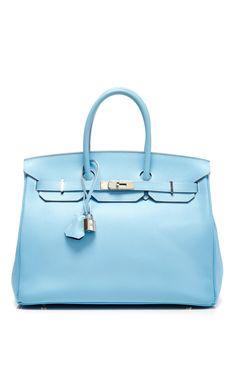 Hermes 35cm Blue Celeste