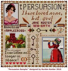 """ Persuasion Sampler "" Designed by Nurdan Kanber  PS: I've made a mistake on this Sampler! Please consider that  there has to be ""Silence"" instead of ""Silance""!"