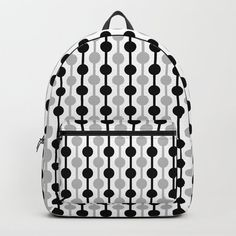 Geometric Multi Droplets Pattern - Black White Grey Backpack by denidesigns Grey Backpacks, Backpacks For Sale, D Craft, One Size Fits All, Fashion Backpack, Laptop, Handle, Construction, Unisex