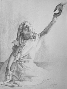He Leadeth Me, painting by artist jenedy paige