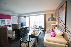 The Huxley apartments - studio layout, great bed separation