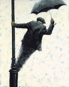 Signin in the Rain  Giclée on Paper Image size: 20 x 15.75 US Edition: 95