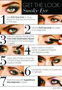 Make Up & The Tomboy: Smoky eyes made easy with Avon Dark Eyeshadow, How To Apply Eyeshadow, How To Apply Makeup, Avon Products, Makeup Tips, Beauty Makeup, Beauty Tips, Makeup Ideas, Beauty Hacks
