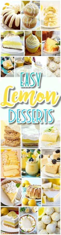 The BEST Easy Lemon Desserts and Treats Recipes - SPRING and SUMMER in dessert form! Perfect For Easter, Mother's Day Brunch, Bridal or Baby Showers and Pretty Spring and Summer Holiday Party Refreshments - Dreaming in DIY #lemondesserts #lemonrecipes #easylemonrecipes #lemon #lemontreats #easterdesserts #mothersdaydesserts #springdesserts #holidaydesserts #summerdesserts