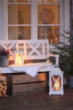 porches cozy home Beautiful And Cozy Winter Terrace Dcor Ideas To Try Winter Porch, Winter Garden, Cozy Winter, Outdoor Spaces, Outdoor Living, Outdoor Decor, Christmas Inspiration, Garden Inspiration, Pergola