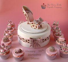 Leopard Print Shoe Cake and Cupcakes High Heel Cakes, Shoe Cakes, Pretty Cakes, Beautiful Cakes, Amazing Cakes, Take The Cake, Love Cake, High Heel Kuchen, Fondant Cakes