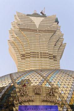 Grand Lisboa casino in central Macau, Macau, China, Asia
