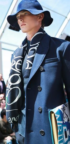 Illustrated prints from the Burberry Spring/Summer 2015 menswear collection
