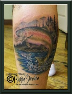 Id like to get something like this trout tattoo on my foot