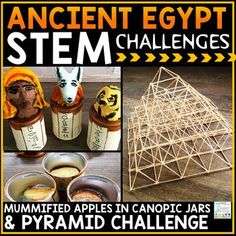 Ancient Egypt STEM & STEAM Challenges Cross-curricular challenges for students who are studying Ancient Civilizations and Ancient Egypt! This resource has science, technology, engineering, and measurement activities to do with your upper elementary kids t Ancient Egypt Activities, Ancient Egypt Crafts, Ancient Egypt For Kids, Egyptian Crafts, Egyptian Art, 6th Grade Social Studies, Social Studies Classroom, Stem Activities, Measurement Activities