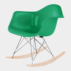 Eames Molded Fiberglass Armchair Rocker Base in Green | http://www.momastore.org/museum/moma/ProductDisplay_Eames%20Molded%20Fiberglass%20Armchair%20Rocker%20Base_10451_10001_191572_-1_11476_11583_190086