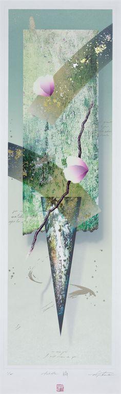 Title  A Moment  Artist  Yoichiro Nishikawa  Year  2005  Process  Lithograph/metal leaf/mica