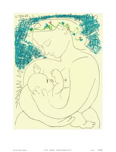 Bruce Teleky Motherhood - Lithograph by Pablo Picasso Art Print Poster Kunst Picasso, Picasso Drawing, Picasso Art, Picasso Paintings, Painting & Drawing, Guernica, Line Drawing, Drawing Sketches, Drawings