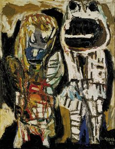 "Karel APPEL/""de veroordeelden"" (the condemned) hommage à Julius and Ethel Rosnberg 1953 Basquiat, Cobra Art, Art Informel, Visual Thinking, Tachisme, Social Art, Paintings I Love, Oil Paintings, Amsterdam"