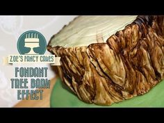 Fondant tree bark effect How To Tutorial Zoes Fancy Cakes - YouTube