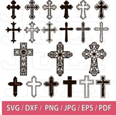 Cross Tattoo Designs, Cross Designs, Cross Clipart, Cross Silhouette, Silhouette Files, Cross Tattoos For Women, Celtic Cross Tattoos, Jesus On The Cross, Tattoos