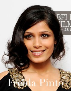 Wow your fellow party-goers with a faux bob, a la Freida Pinto - gorgeous!