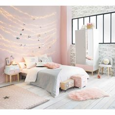BLUSH Pink Faux Fur Sheep Rug 90x60 | Maisons du Monde | Copper blush decor, rose gold decor, pink accessories, luxury bedroom