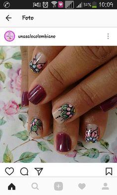 Fun Nails, Mandala, Nail Designs, Design Ideas, Nail Art, Mini, Fairy, Amor, Stiletto Nails