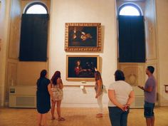 "The small group of visitors guided by Caterina Panetta of Through Eternity during the ""Caravaggio in Rome Tour: The Art and Blood of a Genius"" on the 25th August 2016, Rome, Galleria Nazionale d'Arte Antica a Palazzo Barberini."