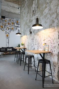 industrial restaurant Wondrous Useful Tips: Industrial Chair Cushion industrial style gym. Industrial Cafe, Industrial Flooring, Vintage Industrial Furniture, Industrial Style, Industrial Wallpaper, Industrial Shelving, Industrial Lighting, Industrial Stairs, Industrial Closet