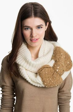Love this bow infinity scarf!