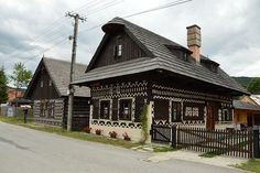 Čičmany Swedish Decor, Gazebo, Europe, Outdoor Structures, Cabin, Explore, House Styles, Group, Collections