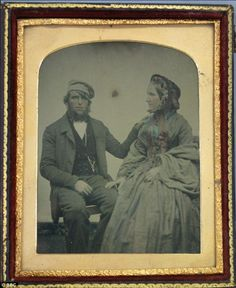 A look back: Cheryl's X4 great grandfather John Wood Laing and his wife Caroline were pict...