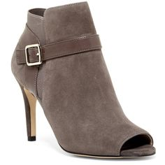 Marc Fisher Shimmee Peep Toe Bootie ($45) ❤ liked on Polyvore featuring shoes, boots, ankle booties, peep-toe ankle booties, peep toe bootie, suede open toe booties, open toe ankle booties and open toe bootie