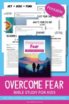 Overcome Fear Bible Study for Kids (Printable) | Wildly Anchored // Faith, Family, Homeschool