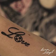 Soccer love tattoo ❤️⚽️                                                                                                                                                                                 More