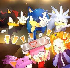 Sonamy, Shadaria, Silvaze-Sonic the Hedgehog Shadow The Hedgehog, Sonic The Hedgehog, Silver The Hedgehog, Sonic Adventure, Sonic Y Amy, Sonic Sonic, Sonamy Comic, Sonic Funny, Rouge The Bat