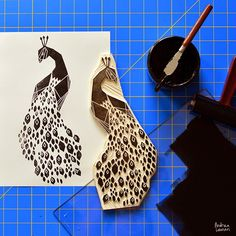Andrea Lauren: Bird Block Print Stamps by Andrea Lauren