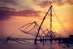 "Kochi, on Kerala's ""spice coast"" in India. Love this itinerary, our travel team raves about the colours and flavours of this gorgeous place. Cheap Flights To India, Kerala Tourism, Beach Yoga, Kerala India, Exotic Places, Kochi, Best Places To Travel, Travel Images, India Travel"