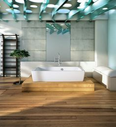 Essencia 6838 Therapeutic Tub - The Theatre Stage #bath platform from @BainUltra pushes the #bathtub into the spotlight while expanding #design... http://www.bainultra.com/therapeutic-baths/our-collections/essencia/essencia-6838