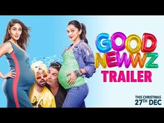 Good Newwz Movie : Romantic comedy starring Akshay Kumar, Kiara Advani, Kareena Kapoor Khan and Diljit Dosanjh. Watch All New Movies For Free Movie Trailers, Trailer Song, Official Trailer, Best New Movies, Latest Movies, Good News, Hindi Movies Online Free, Romantic Comedy Movies, Romantic Songs