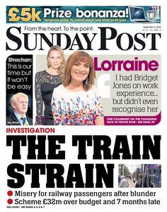 """Sunday Post front page: The train strain Kenwood Mixer, Bridget Jones, Columnist, News Online, Bbc News, Sunday, September, Train, Twitter"
