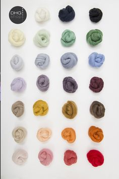 Now 14.5 and 16 micron superfine wool in color!These 26 colors 30% off until April 15th. What do you think? http://www.dhgshop.it/fibers-tops.php