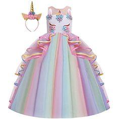 Rainbow unicorno corno Fascia Per Bambini Donne Ragazze Costume Festa FESTIVAL D/'ORO